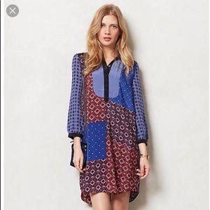 Anthropologie moulinette soeurs patchwork dress L